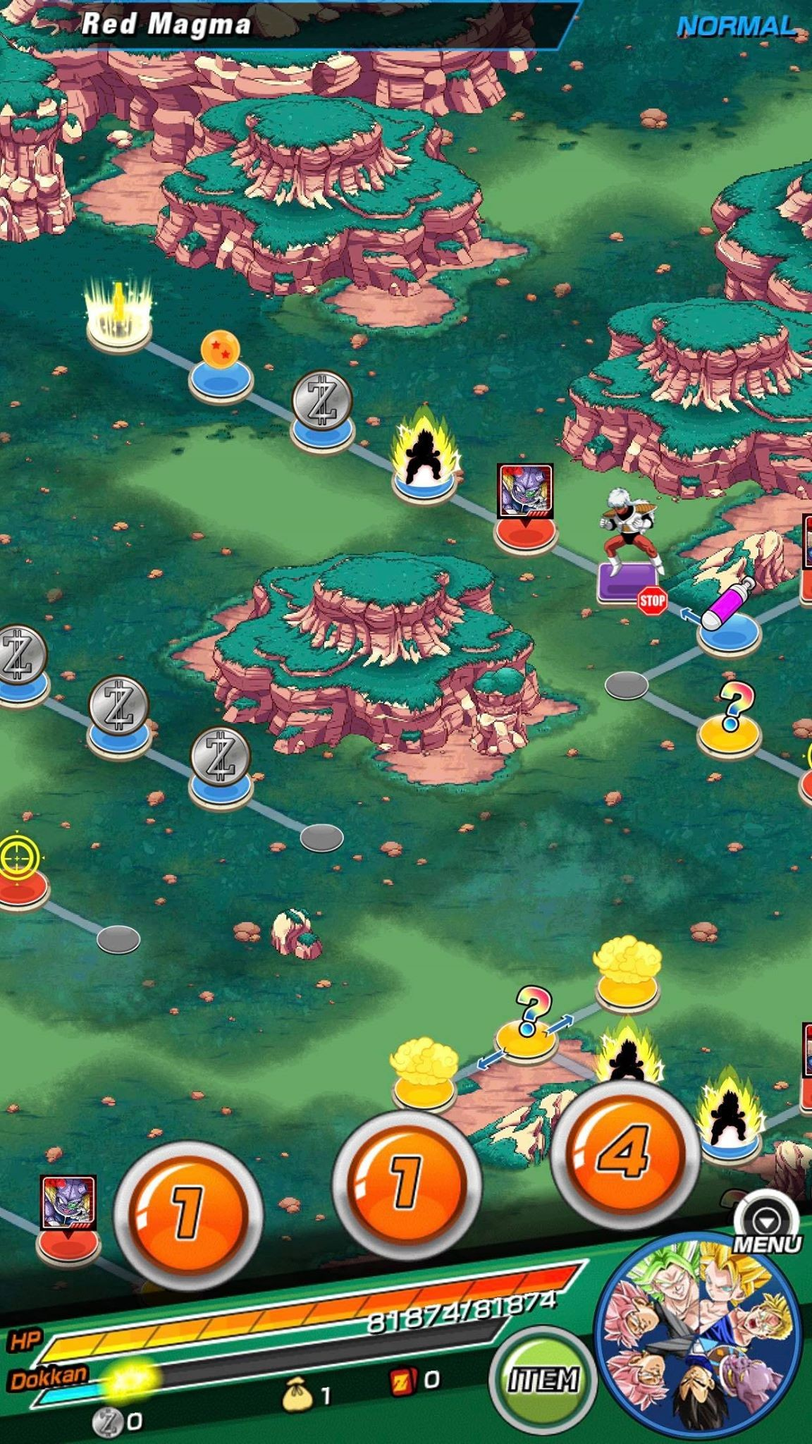 Dragon Ball Z Dokkan Battle Map