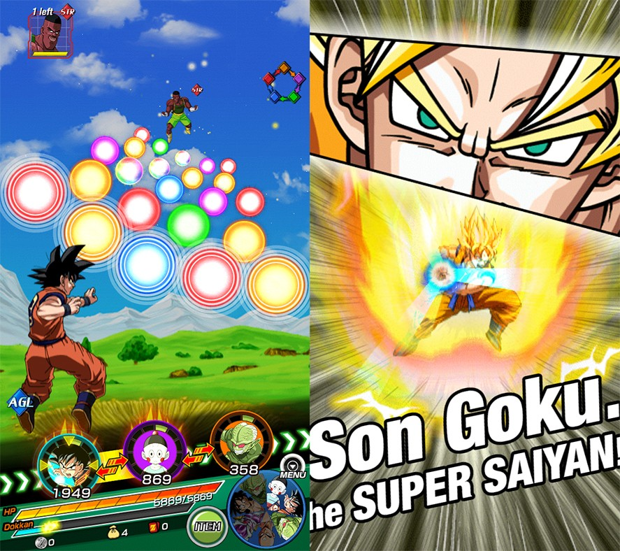 Dragon Ball Z Dokkan Battle Screen Battle