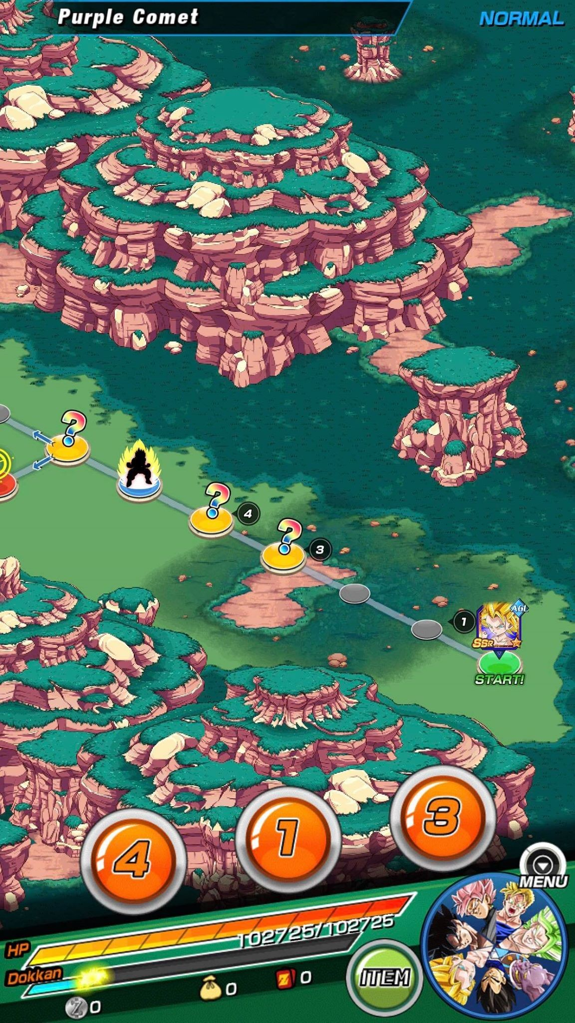 Dokkan Battle Quest map