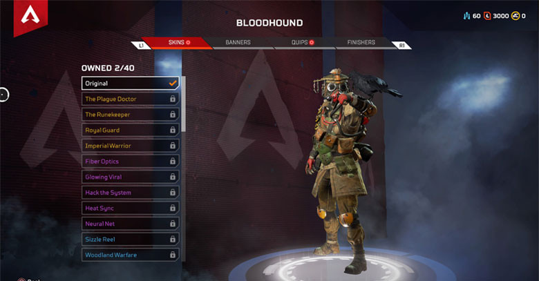 Character: Bloodhound - Apex Legends.