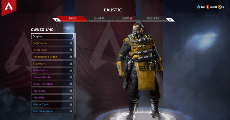 Character: Caustic - Apex Legends.