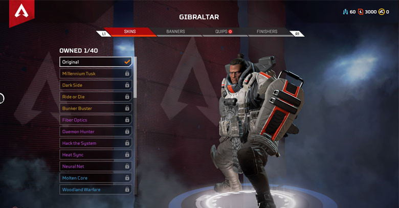 Character: Gibraltar- Apex Legends.