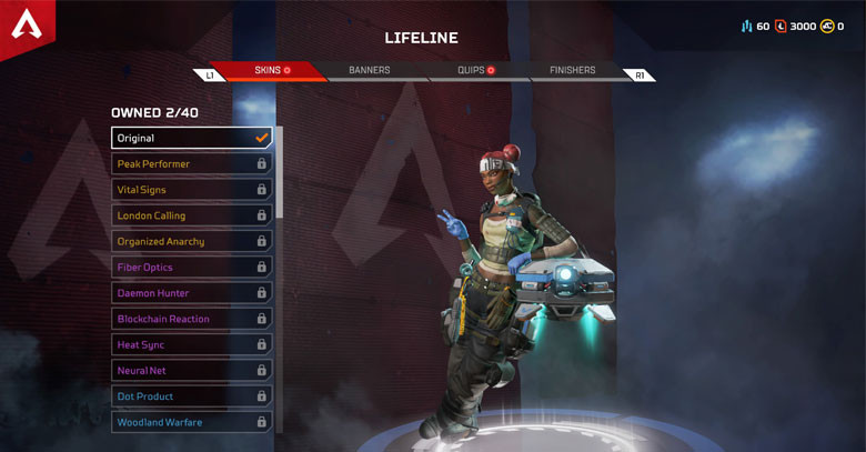 Character: Lifeline - Apex Legends.