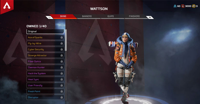 Character: Wattson - Apex Legends.
