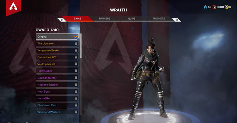 Character: Wraith - Apex Legends.