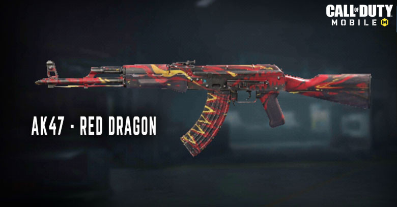 Red Dragon - AK47 Skin in Call of Duty Mobile.