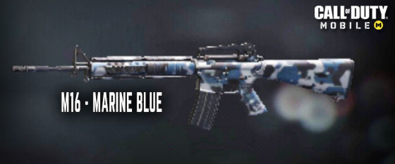 Marine Blue M16 Skin in Call of Duty Mobile.