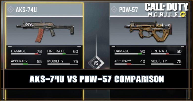 AKS-74U VS PDW-57 Comparison