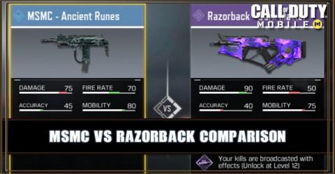 MSMC VS Razorback Comparison