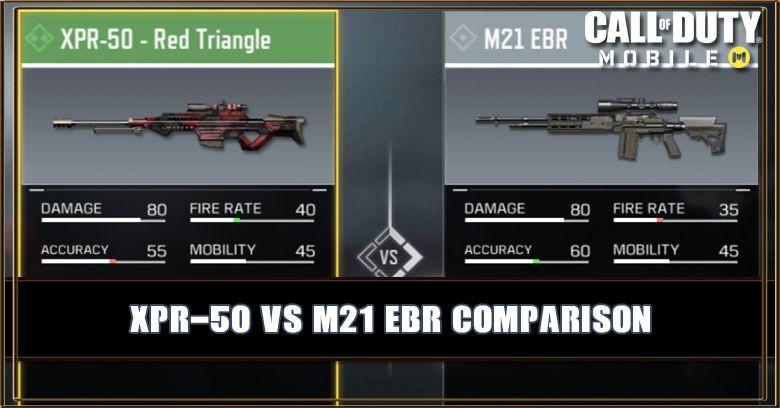 XPR-50 VS M21 EBR Comparison