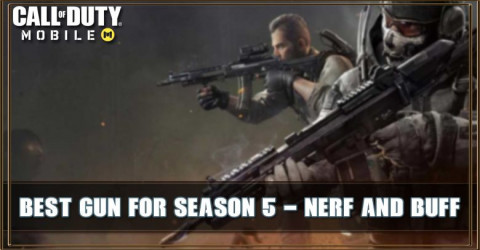 COD Mobile Best Gun For Season 5: Nerf and Buff Change