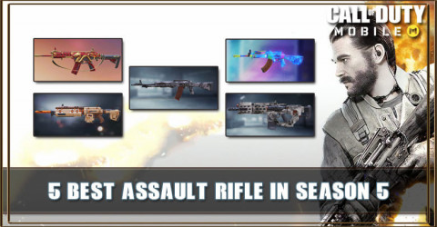 Top 5 Best Assault Rifle in COD Mobile Season 5