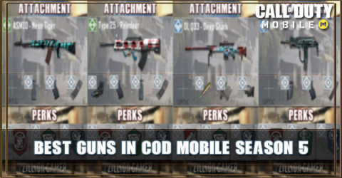 Best Gun in COD Mobile Season 5 With Attachments & Perks