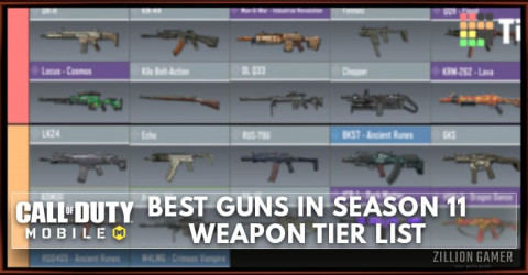 Best Gun in COD Mobile Season 11 Tier List