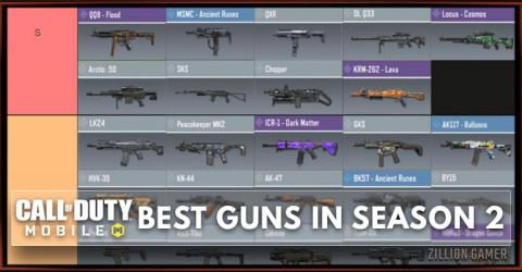 Best Gun in COD Mobile Season 2 Tier List