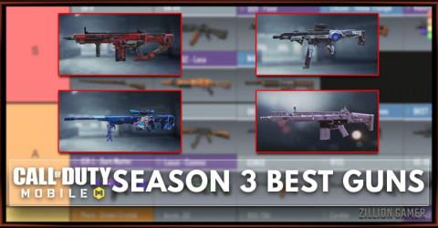 Best Gun in COD Mobile Season 3 Tier List