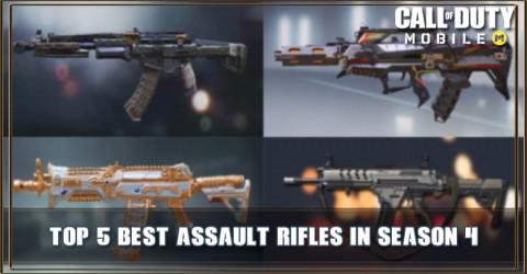 Top 5 Best Assault Rifles in COD Mobile Season 4