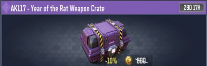 COD Mobile AK117 Year of the Rat Weapon Crate - zilliongamer