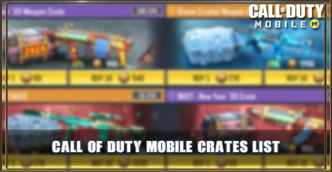 Call of Duty Mobile Crates List