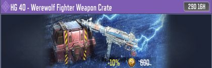 COD Mobile HG 40 - Werewolf Fighter Weapon Crate - zilliongamer