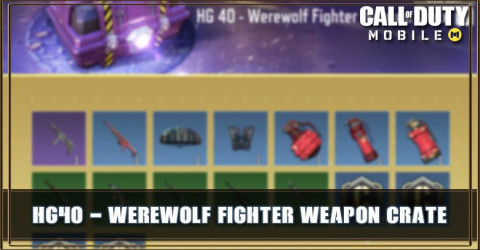 HG 40 - Werewolf Fighter Weapon Crate Items & Odds