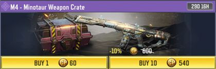 COD Mobile M4 Manotaur Weapon Crate Information - zilliongamer