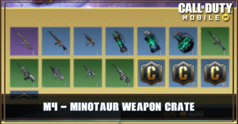M4 - Minotaur Weapon Crate Items & Odds