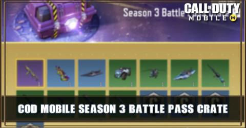 Season 3 Battle Pass Crate Items & Odds