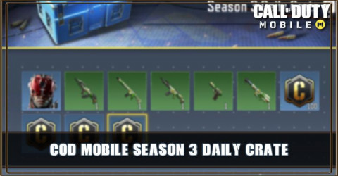Season 3 Daily Crate Items & Odds