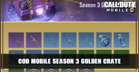 Season 3 Golden Crate Items & Odds
