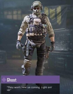 COD Mobile character: Ghost