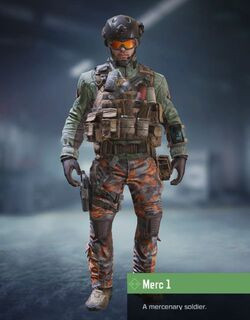 COD Mobile character: Merc 1