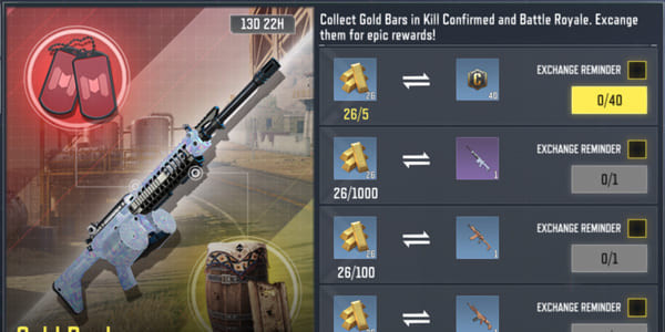 COD Mobile Gold Rush Event - Exchange Center