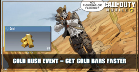 COD Mobile Gold Rush Event: Get Gold Bars Faster