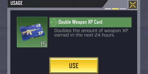 Call of Duty Mobile Common Double Weapon XP Card (Common) - zilliongamer