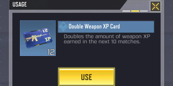 Call of Duty Mobile Rare Double Weapon XP Card (Common) - zilliongamer