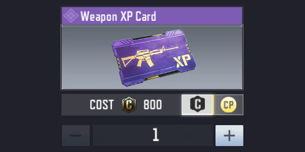 Get Weapon XP Card in COD Mobile Store - zilliongamer