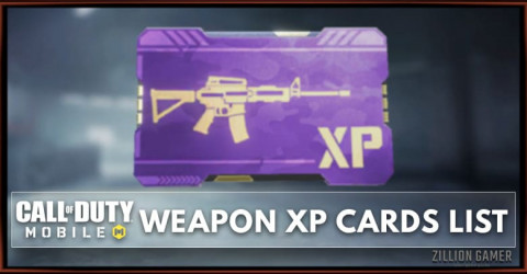 Call of Duty Mobile Weapon XP Card List - Gunsmith Essential