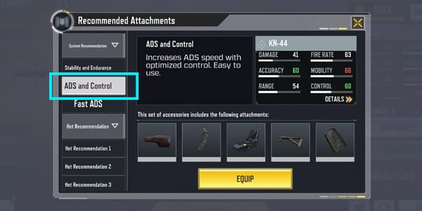 COD Mobile KN-44 Recommended Equipment 2 - zilliongamer