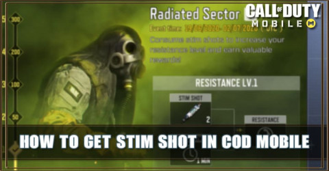 How to get Stim Shot in COD Mobile: Radiated Sector Event