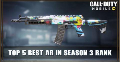Top 5 Best Assault Rifles In COD Mobile Season 3 Rank