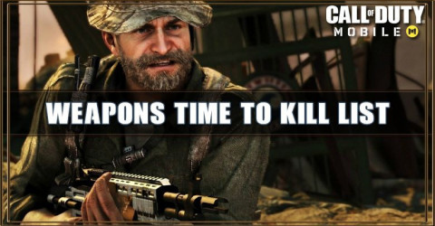 Call of Duty Mobile Weapons Time to Kill List