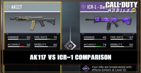 AK117 VS ICR-1 Comparison