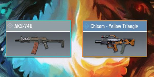 AKS-74U vs Chicom - Gun Comparison in Call of Duty Mobile.
