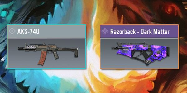 AKS-74U vs Razorback - Gun Comparison in Call of Duty Mobile.