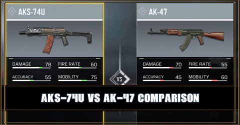 AKS-74U VS AK-47 Comparison