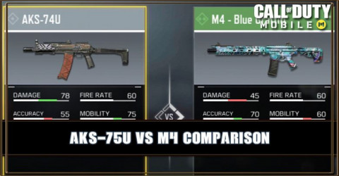 AKS-74U VS M4 Comparison