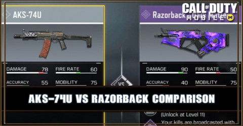 AKS-74U VS Razorback Comparison