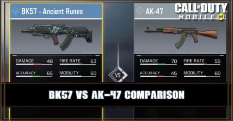 BK57 VS AK-47 Comparison