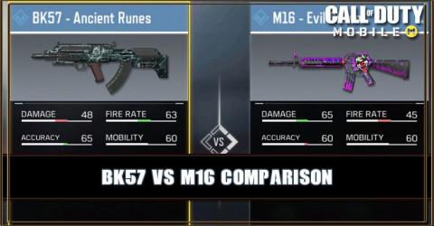 BK57 VS M16 Comparison